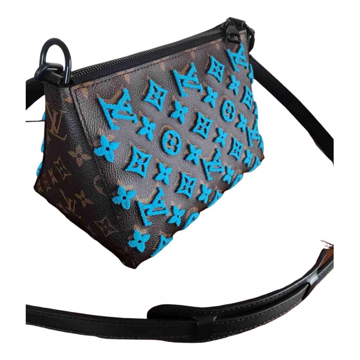 Louis Vuitton - Sac Messenger Triangle pour homme en toile - marron
