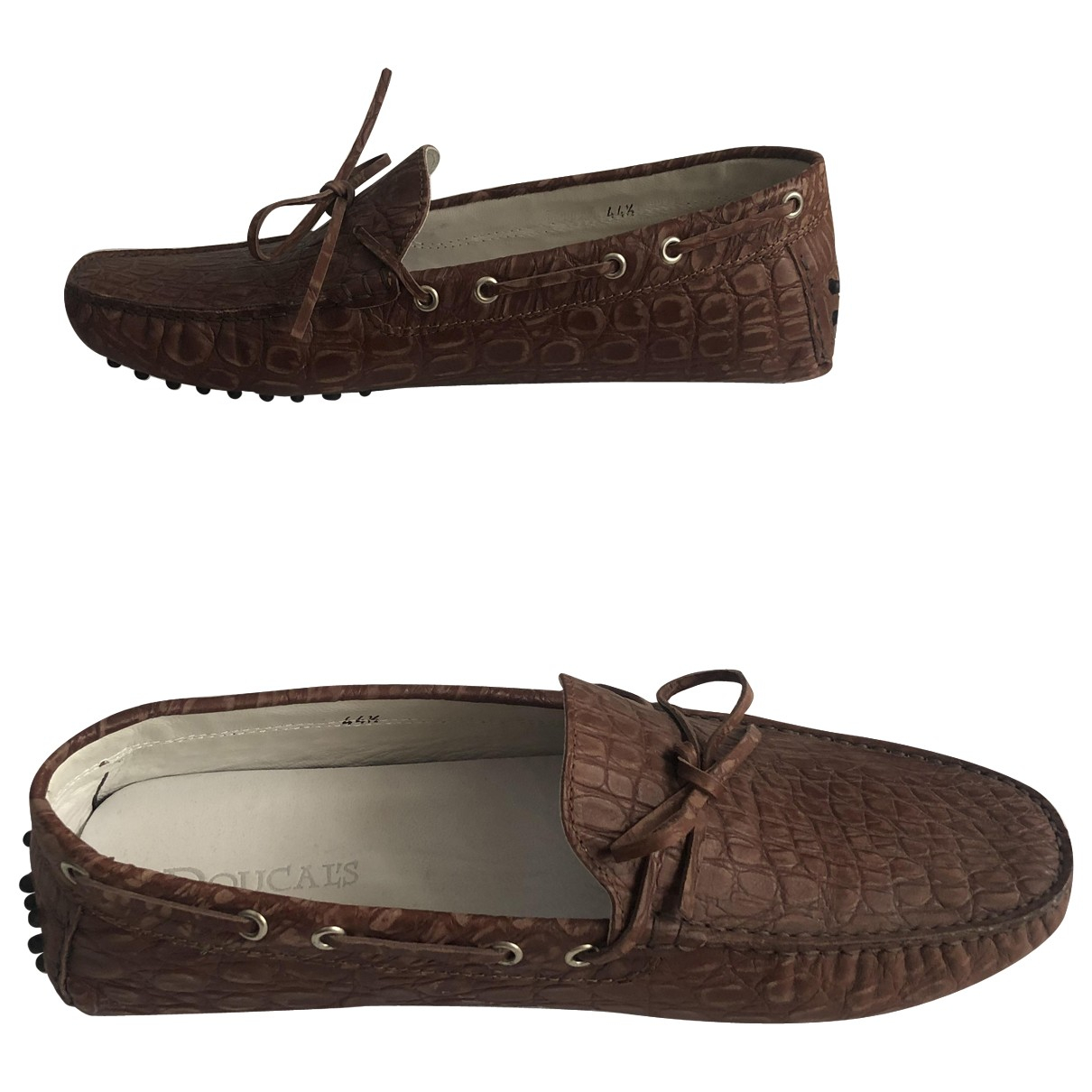 Doucal's \N Brown Leather Flats for Men 44.5 IT