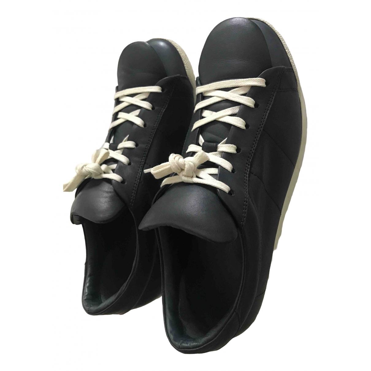Comme Des Garcons \N Sneakers in  Marine Leder