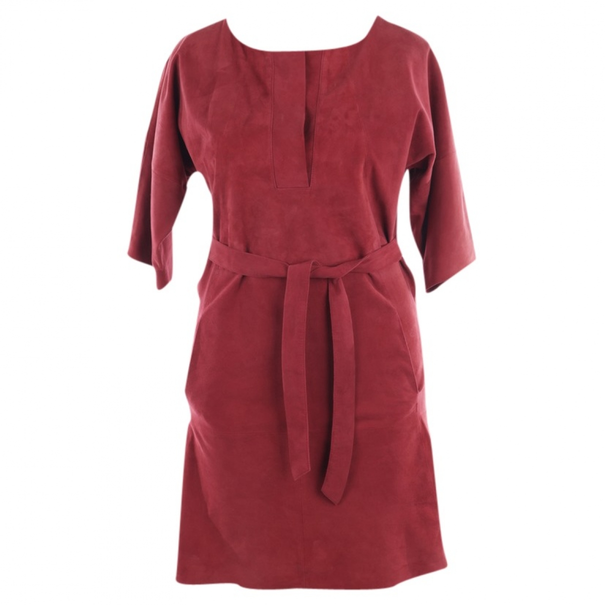 Closed \N Red Leather dress for Women S International