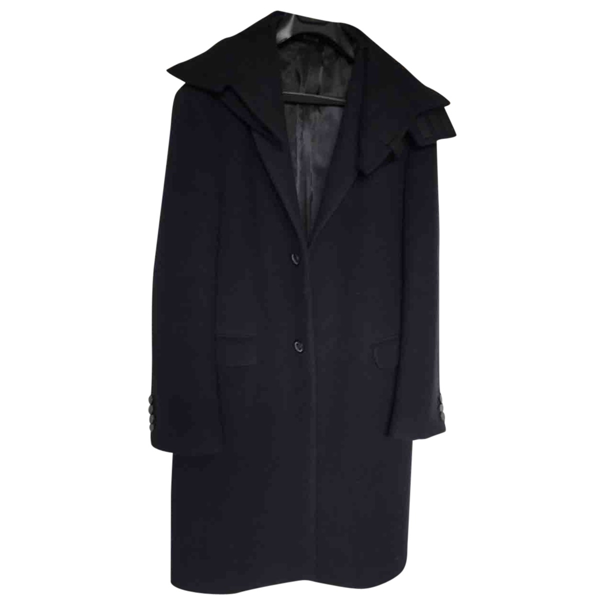Lanvin \N Navy Wool coat  for Men 46 IT