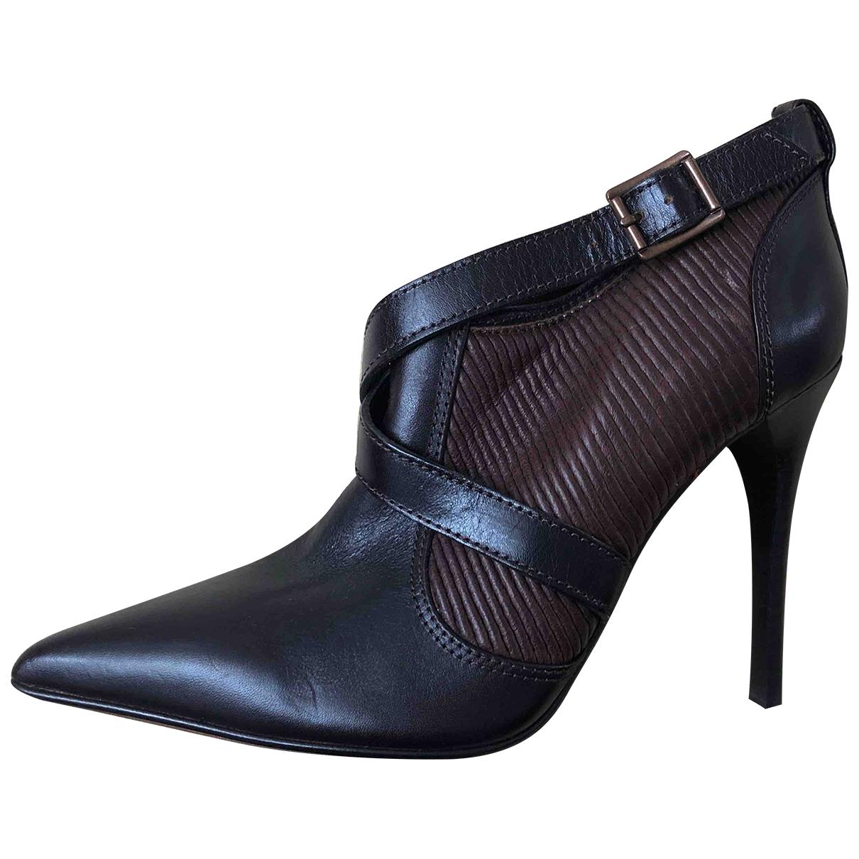Burberry - Boots   pour femme en cuir - marron