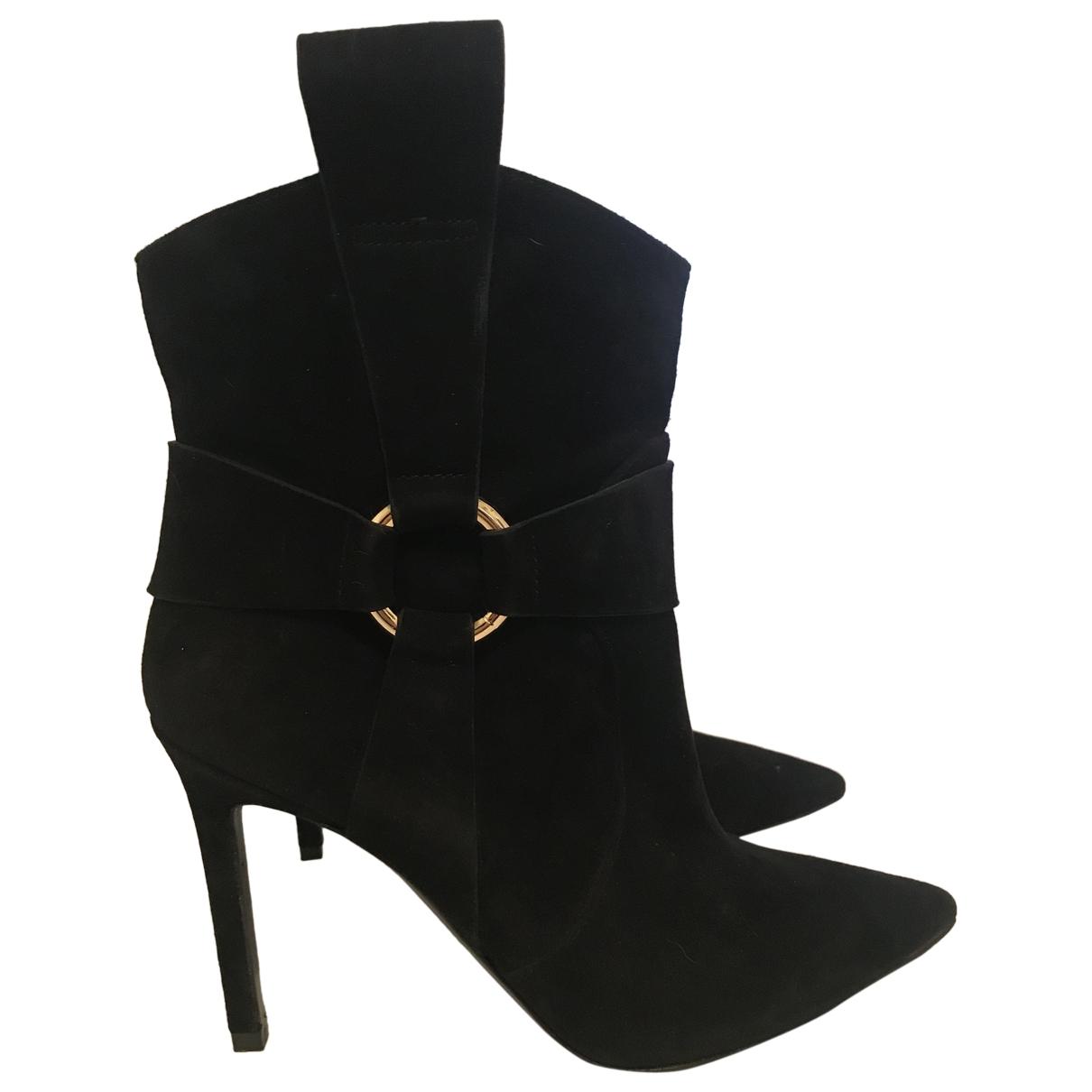 Roberto Festa - Boots   pour femme en suede - noir