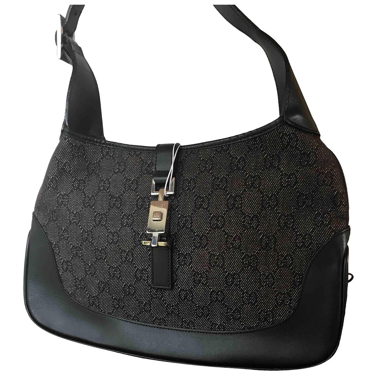 Gucci Jackie Vintage  Anthracite Cloth handbag for Women \N
