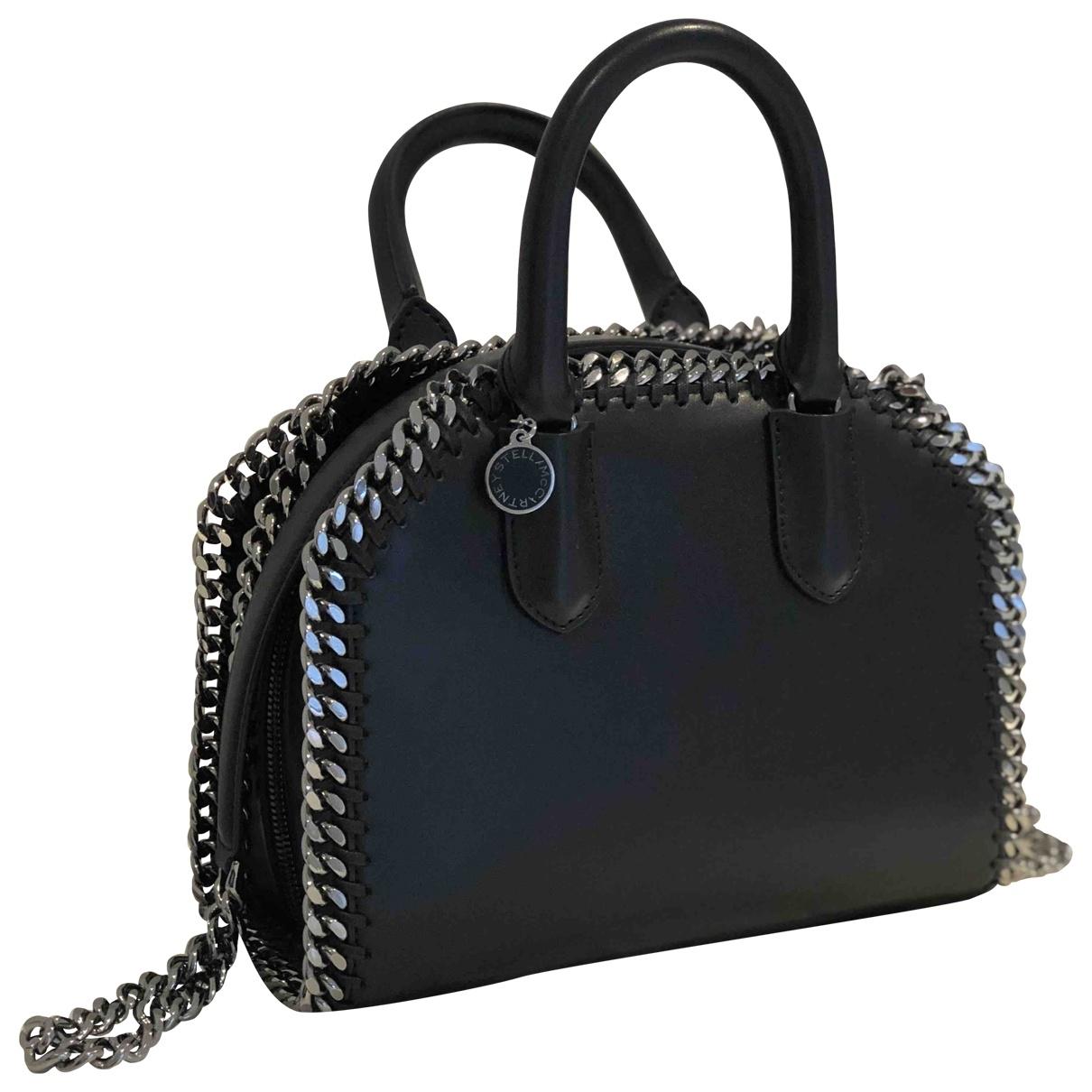 Stella Mccartney Falabella Box Handtasche in  Schwarz Polyester