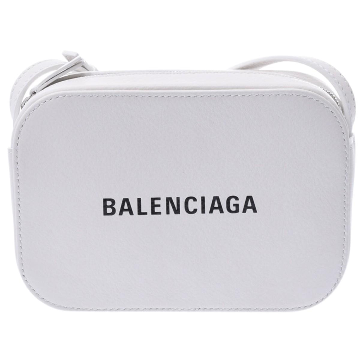 Balenciaga Camera White Leather handbag for Women N