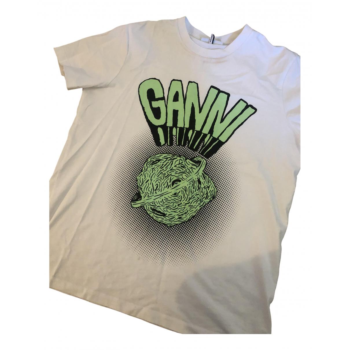 Ganni - Top   pour femme en coton