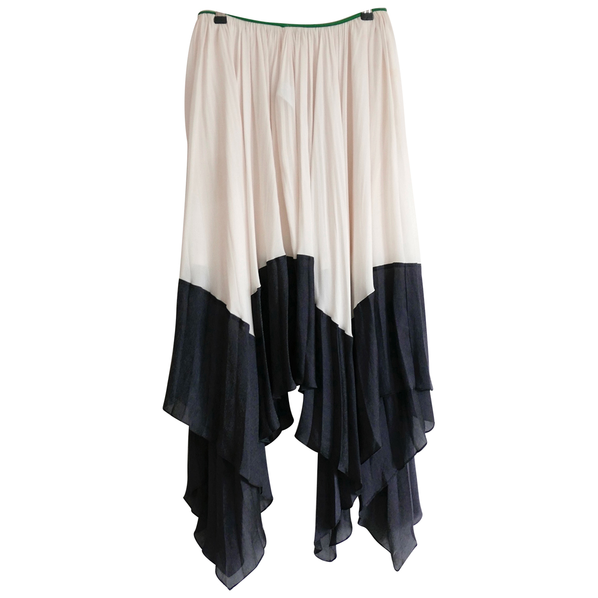 Celine N White Silk skirt for Women 38 FR