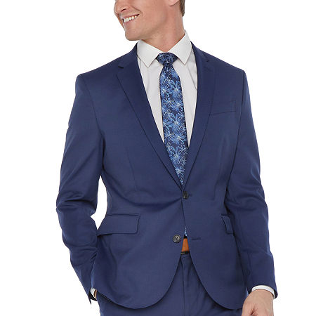 JF J.Ferrar Mens Regular Fit Suit Jacket-Big and Tall, 54 Big Regular, Blue