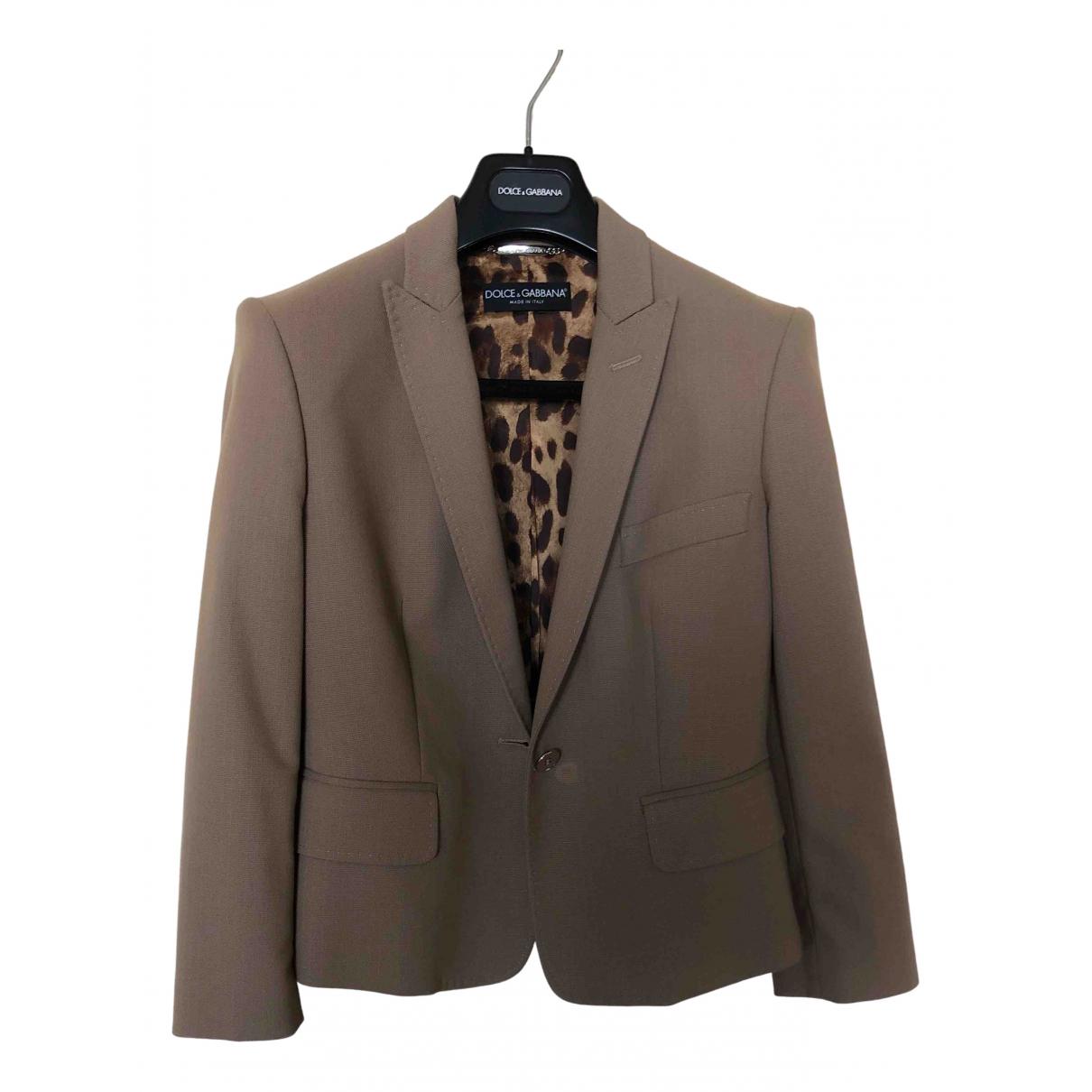 Dolce & Gabbana \N Jacke in  Kamel Baumwolle