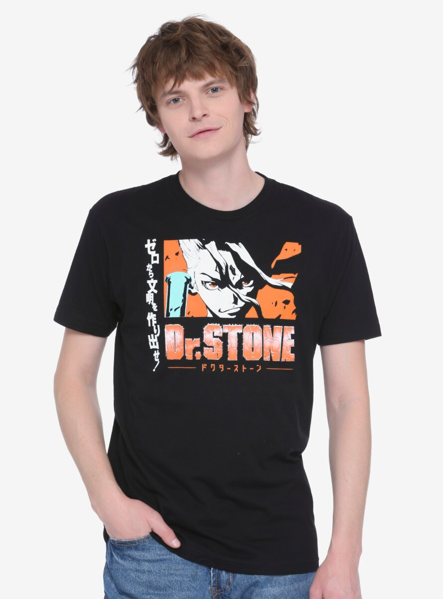 Dr. Stone Comic Strip Face T-Shirt - BoxLunch Exclusive