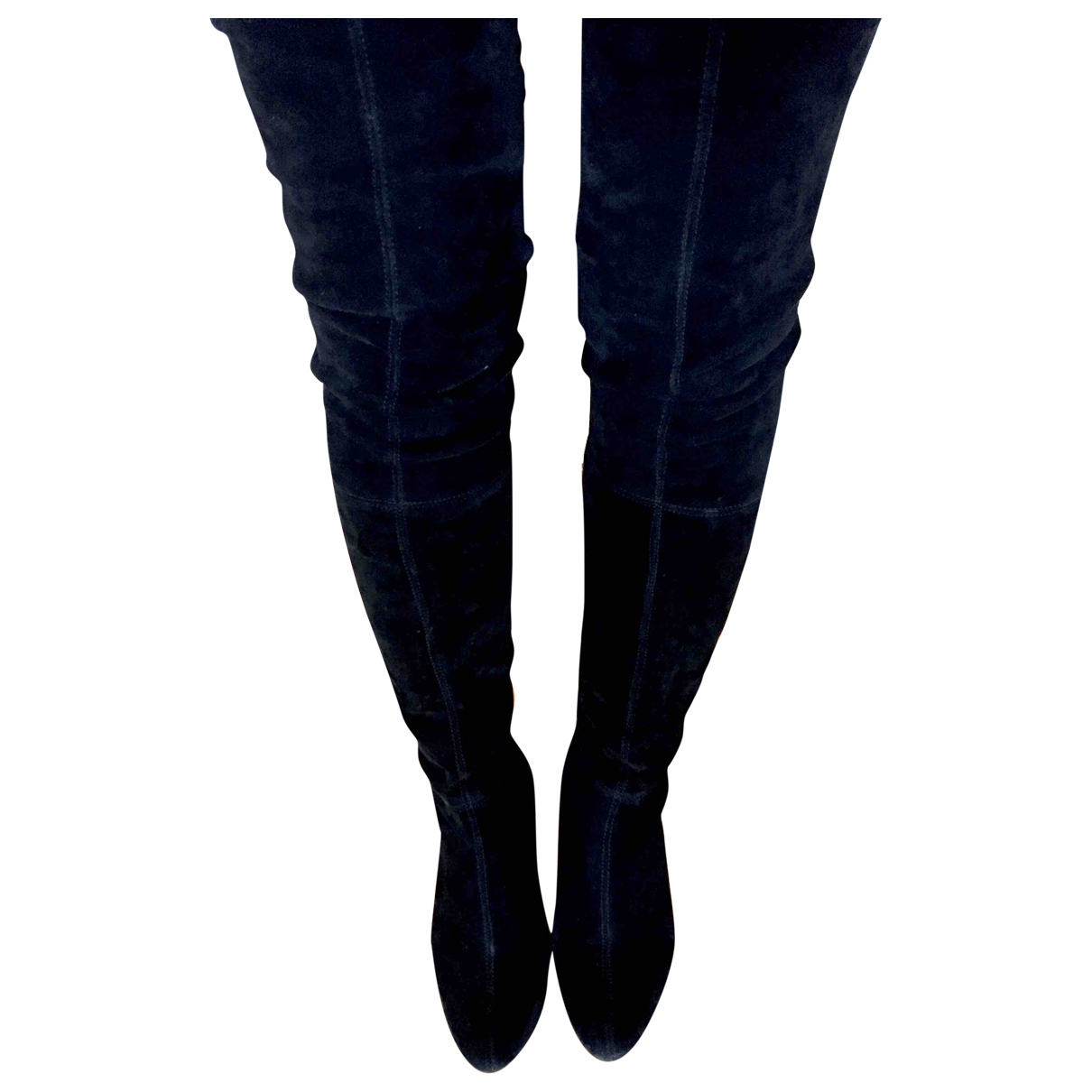 Zara \N Black Suede Boots for Women 37 EU