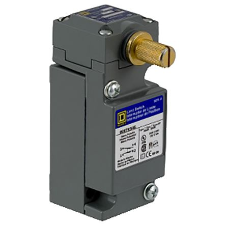Telemecanique Sensors , Snap Action Limit Switch - Metal, NO/NC, Rotary head, 600V, IP67