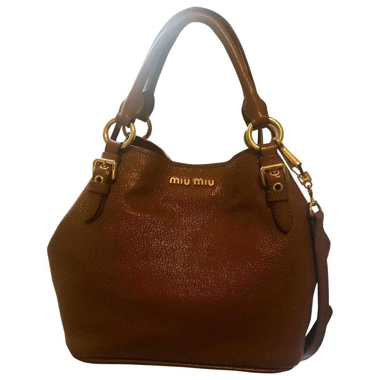 Miu Miu \N Handtasche in  Kamel Leder