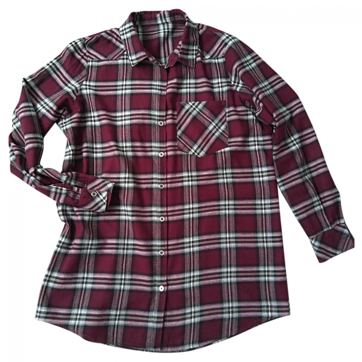 Urban Outfitters - Top   pour femme en coton - bordeaux