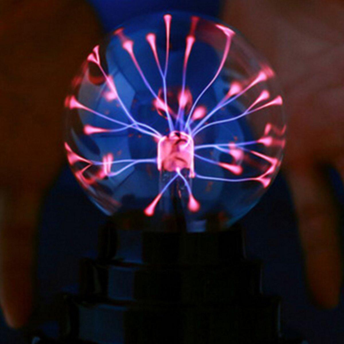 3 Inch Butterfly Plasma Ball Light Table Lamp Cool Magic Fun Science Electricity Desktop Decor