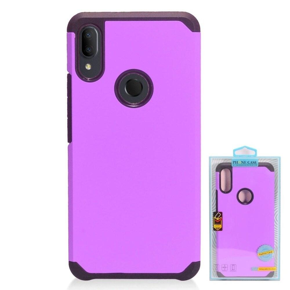 Insten Hard Hybrid TPU Case For Alcatel 3V (2019) - Purple/Black (Purple)