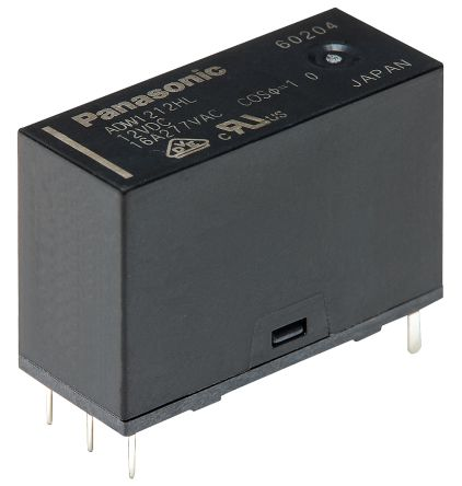 Panasonic SPNO PCB Mount Latching Relay - 16 A, 12V dc For Use In Home Appliances, Industrial Equipment, Lighting (100)