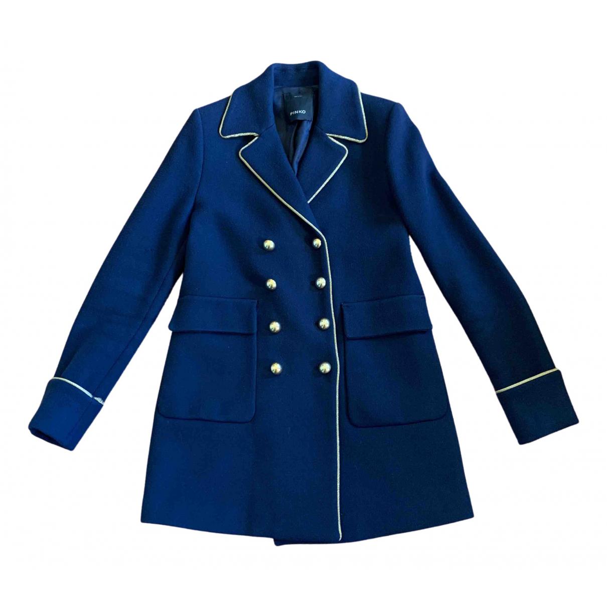 Pinko - Manteau   pour femme en laine - bleu
