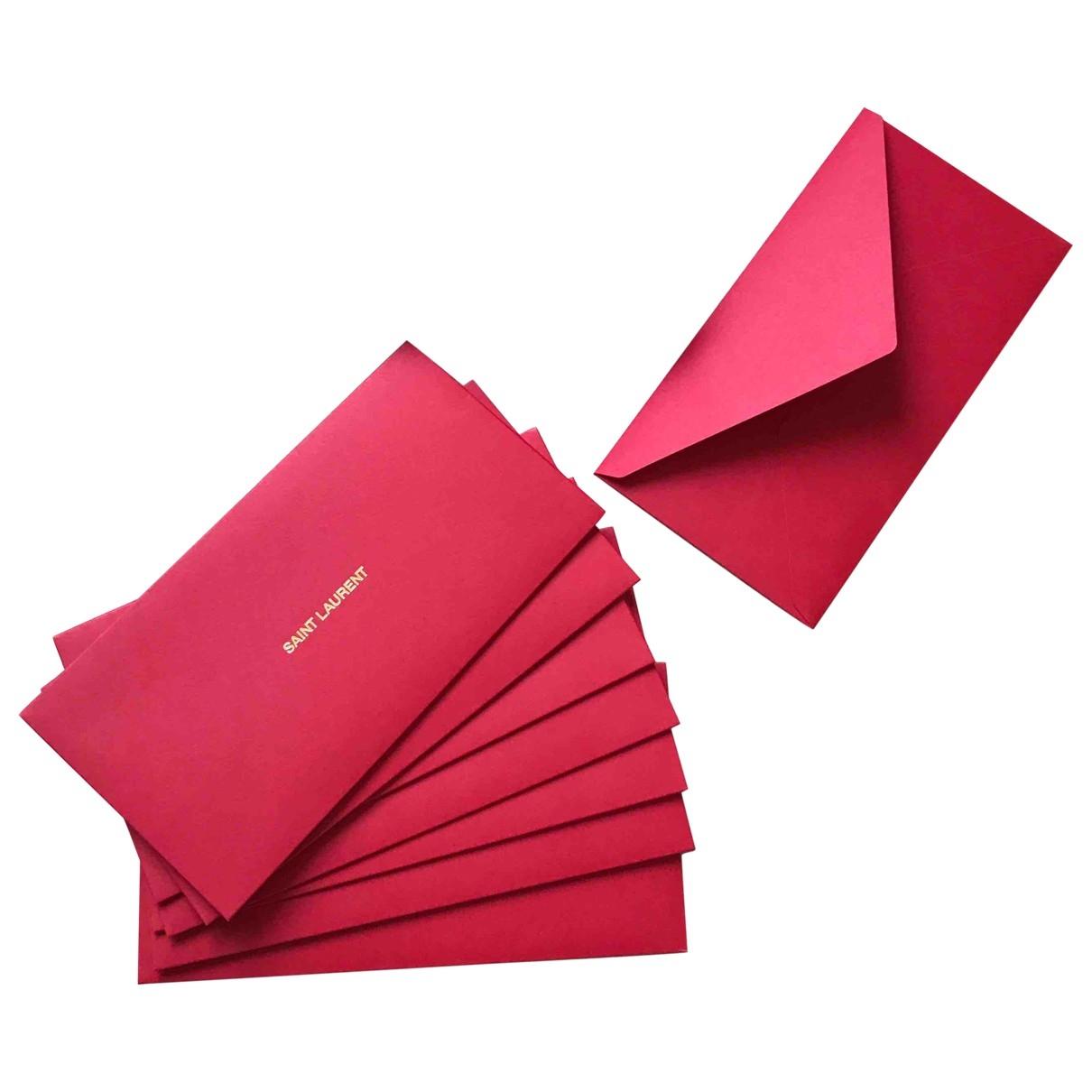 Saint Laurent \N Accessoires und Dekoration in  Rot Baumwolle