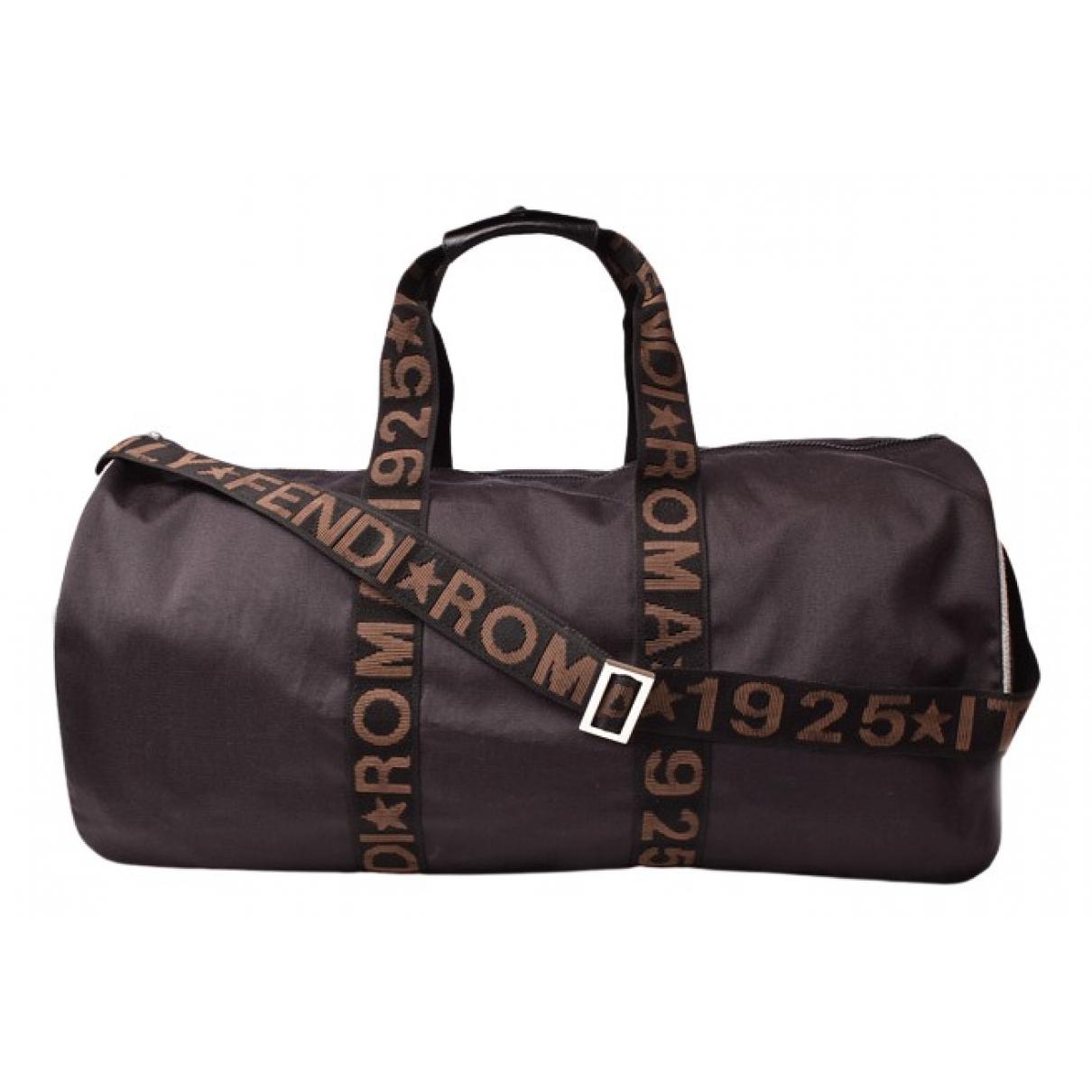 Fendi N Black Cloth Travel bag for Women N