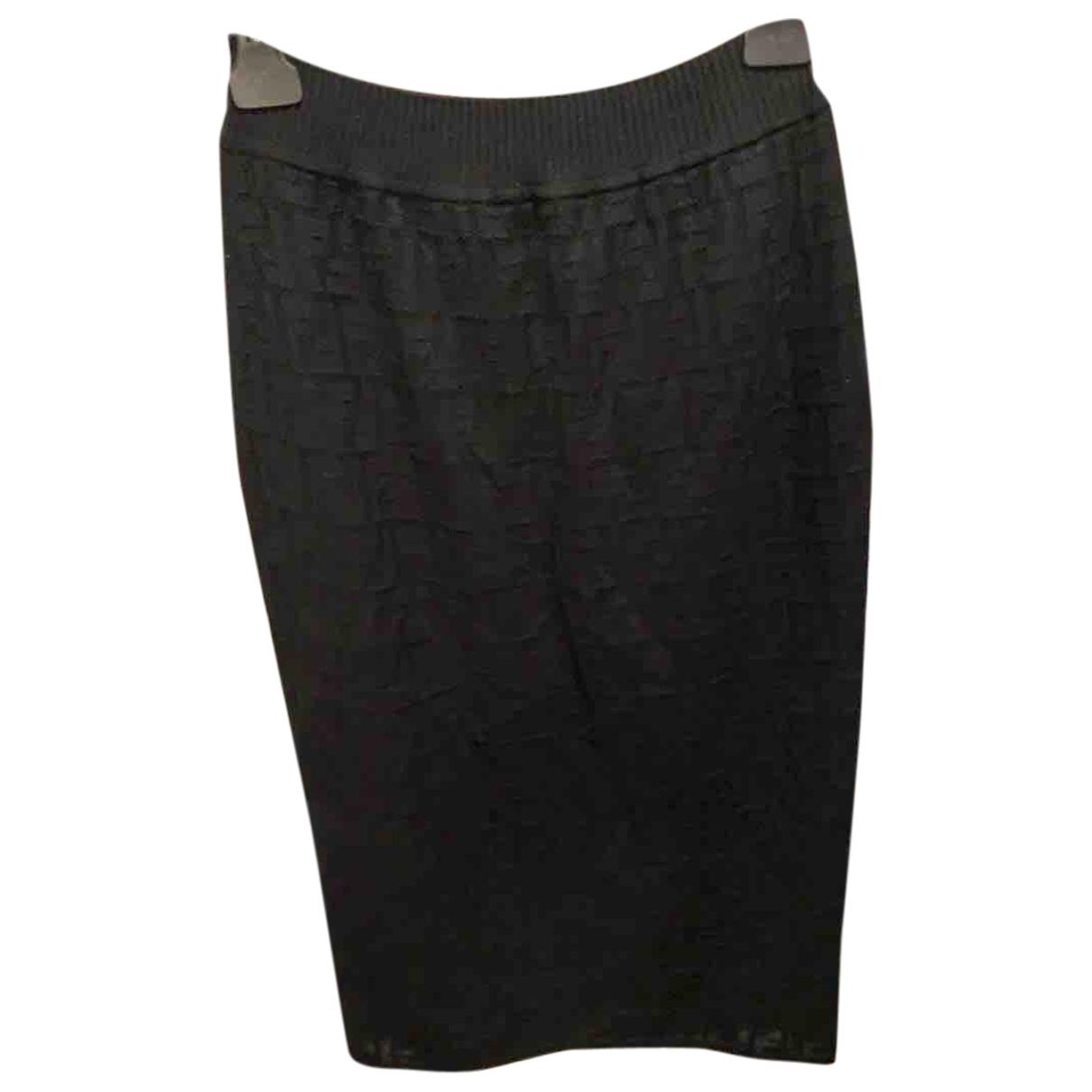 Fendi N Black Cotton skirt for Women 40 FR