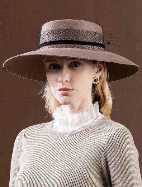 Milanoo Royal Wool Hat Vintage Headpieces Women Retro Hair Accessories Halloween
