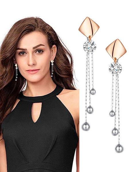 Milanoo Ball Dangle Earrings Fringe Drop Earrings