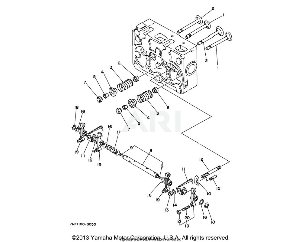 Yamaha OEM YF1-52611-44-30 WASHER, ROCKER ARM SHAFT (EDL65