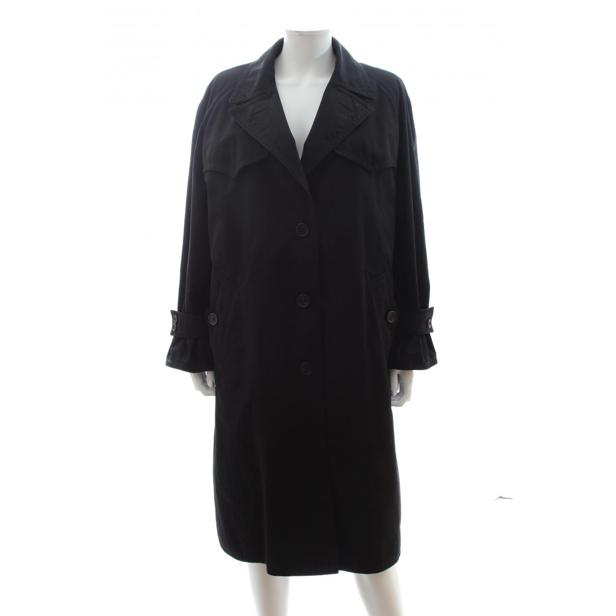 Prada \N Black Cotton coat for Women 40 IT