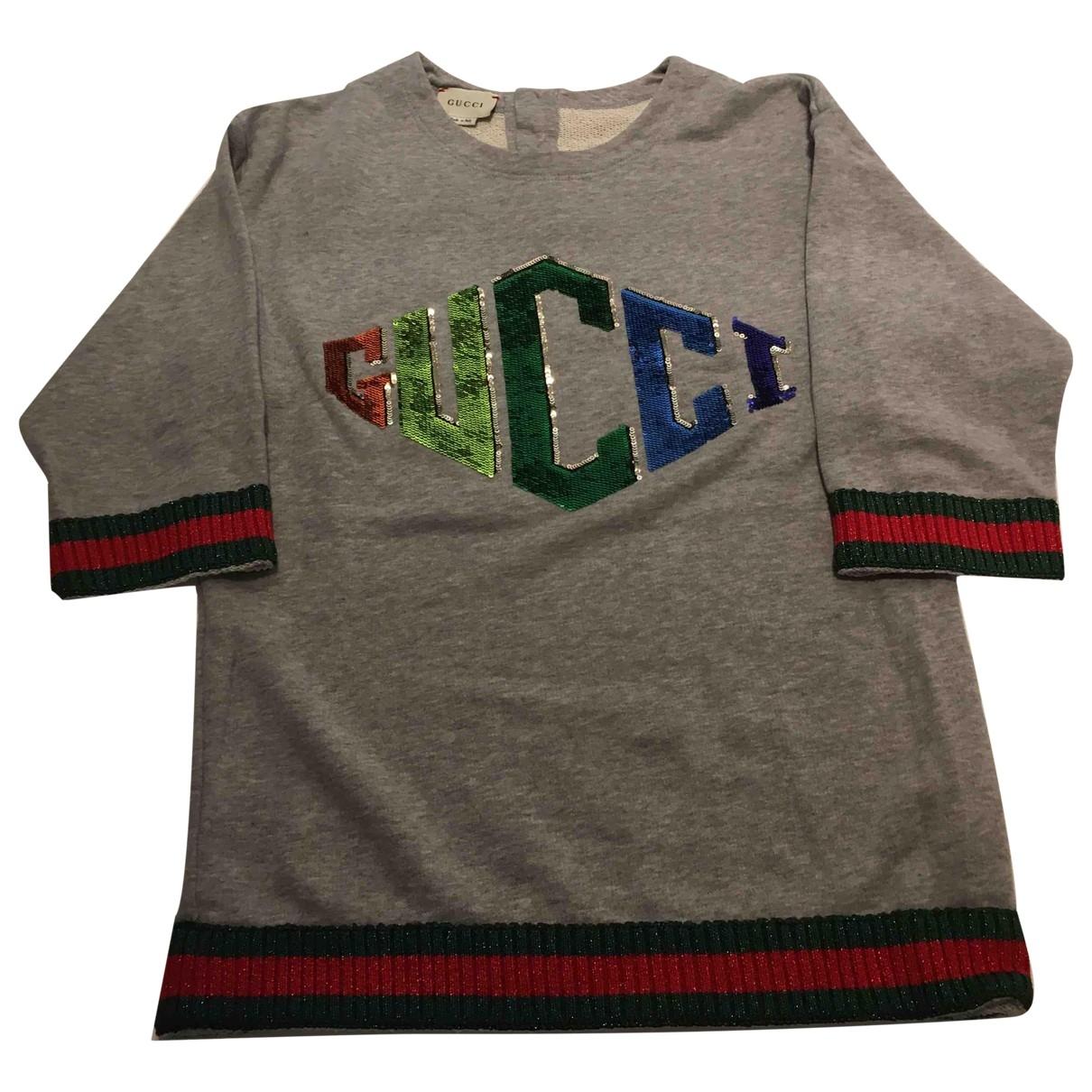 Gucci - Robe    pour enfant en coton - gris