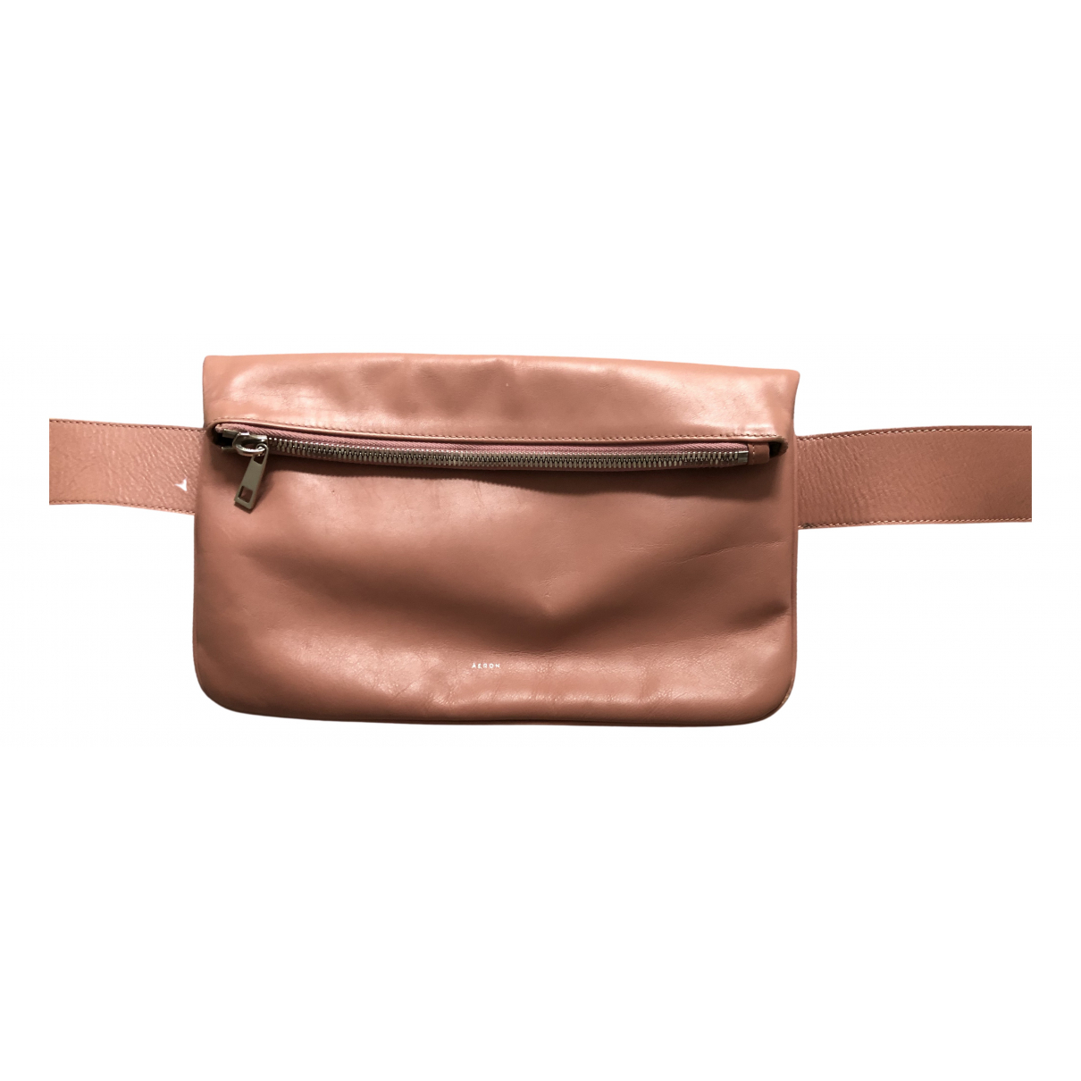 Aeron \N Clutch in  Rosa Leder