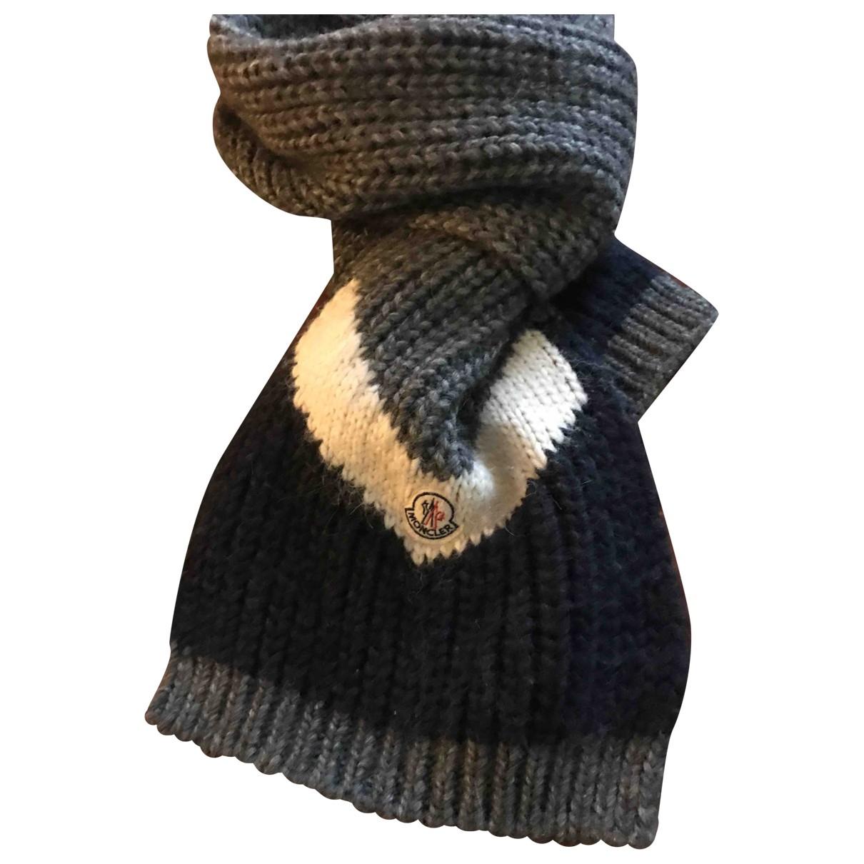 Moncler \N Grey Cotton scarf & pocket squares for Men \N