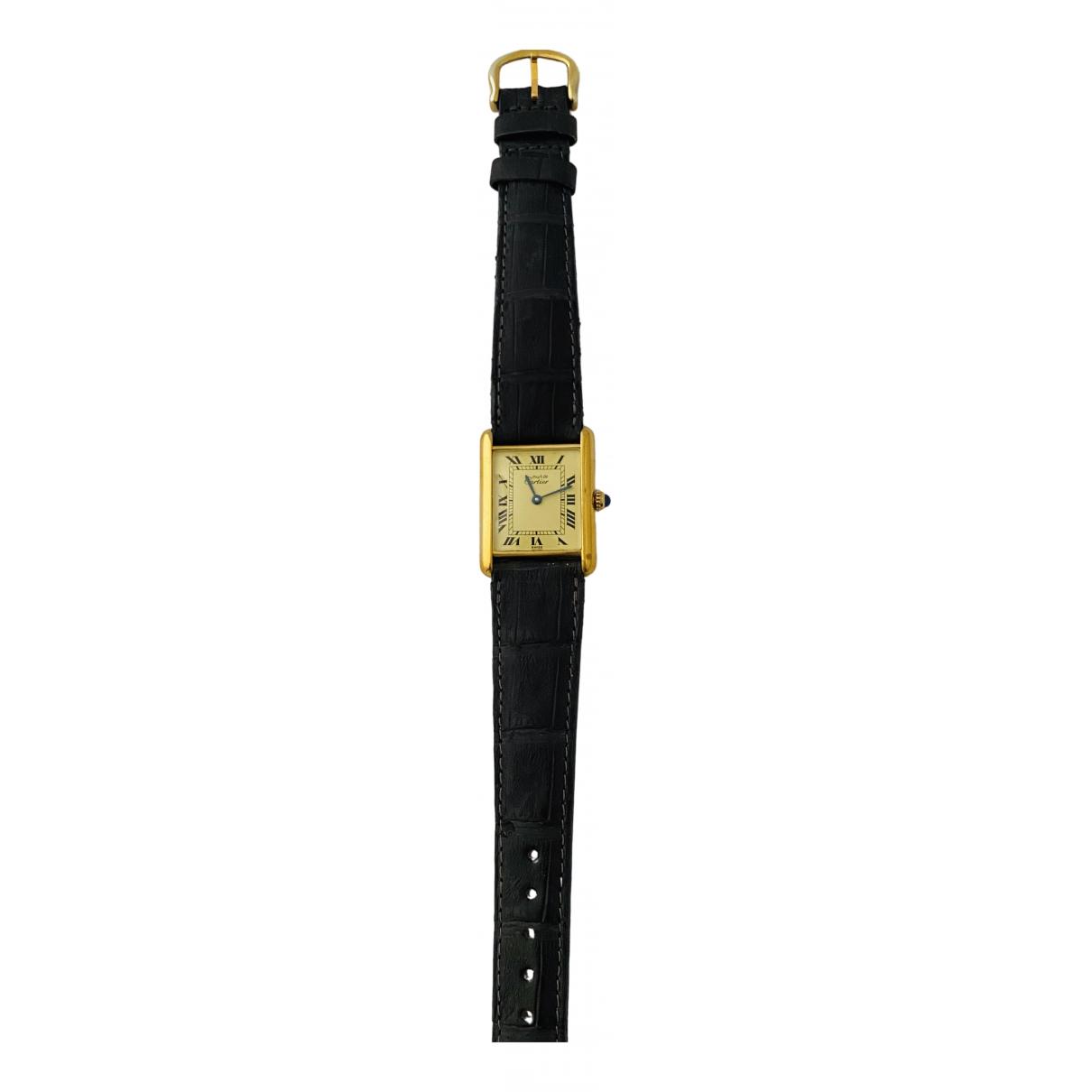 Cartier Tank Must Gold Silver Gilt watch for Men \N