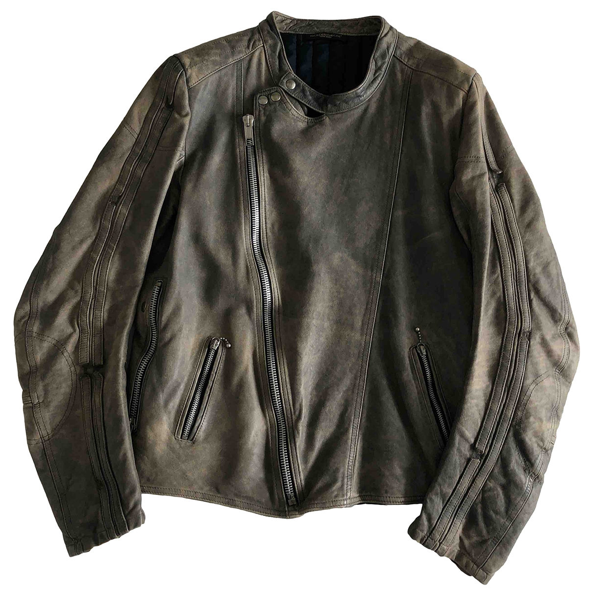 Golden Goose \N Grey Leather jacket  for Men L International