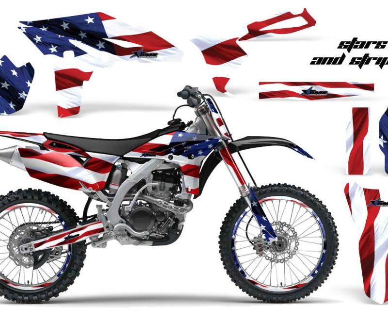 AMR Racing Graphics MX-NP-YAM-YZ250F-10-13-USA Kit Decal Sticker Wrap + # Plates For Yamaha YZ250F 2010-2013 USA FLAG