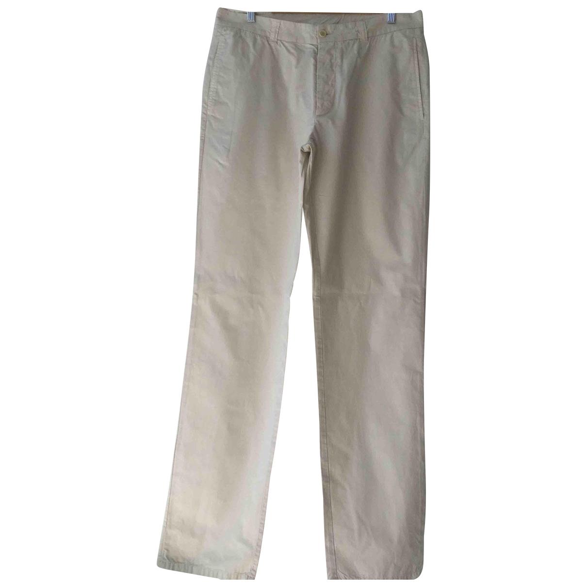 Pantalones en Algodon Beige Weber
