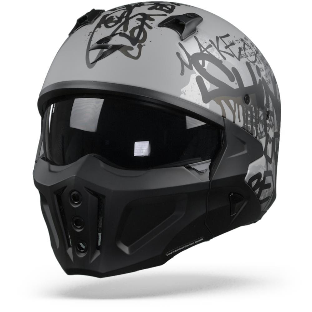 Scorpion Covert-X Wall Casco Jet Plata Mate Negro L
