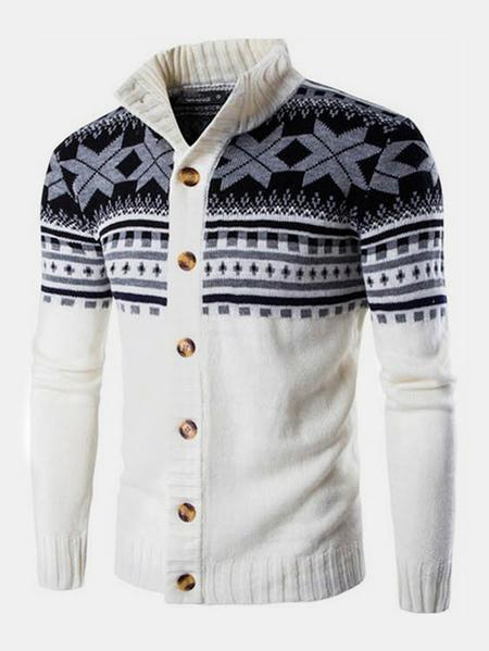 Yoins Men Winter Sweater Knitwear Knitted Cardigan Coats Thick Sweater