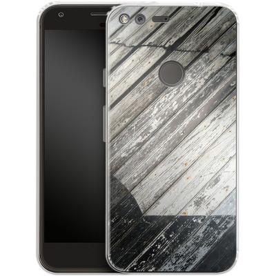 Google Pixel Silikon Handyhuelle - Diagonal Wood von Brent Williams