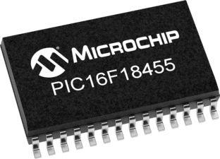 Microchip PIC16LF18455-I/SO, 8bit Microcontroller, PIC16LF, 32MHz, 14 kB Flash, 28-Pin SOIC (27)