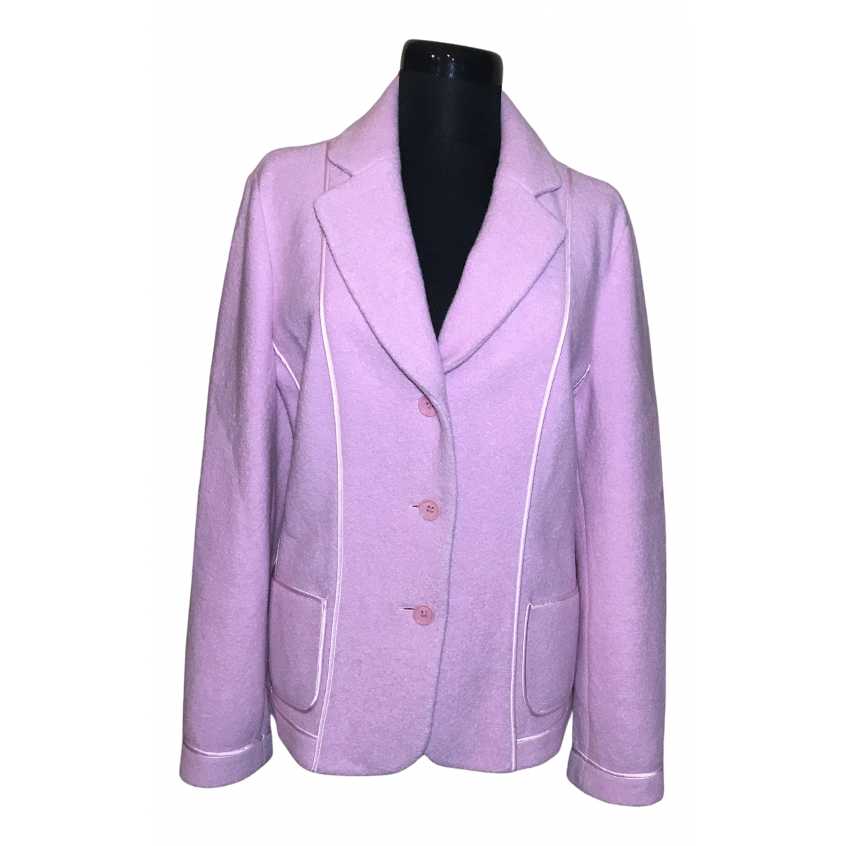 Elegance Paris N Pink Wool jacket for Women 44 FR