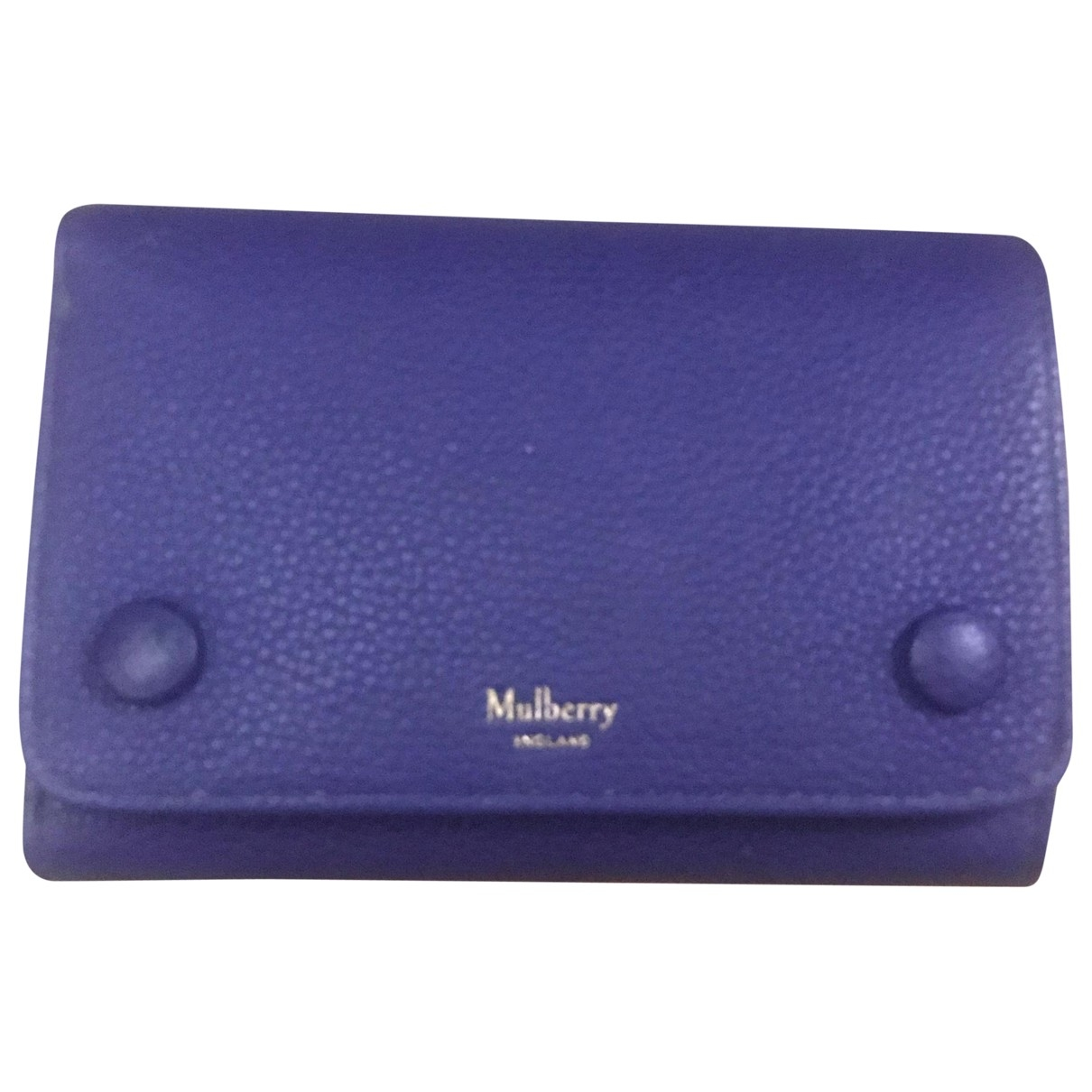 Mulberry \N Blue Leather wallet for Women \N