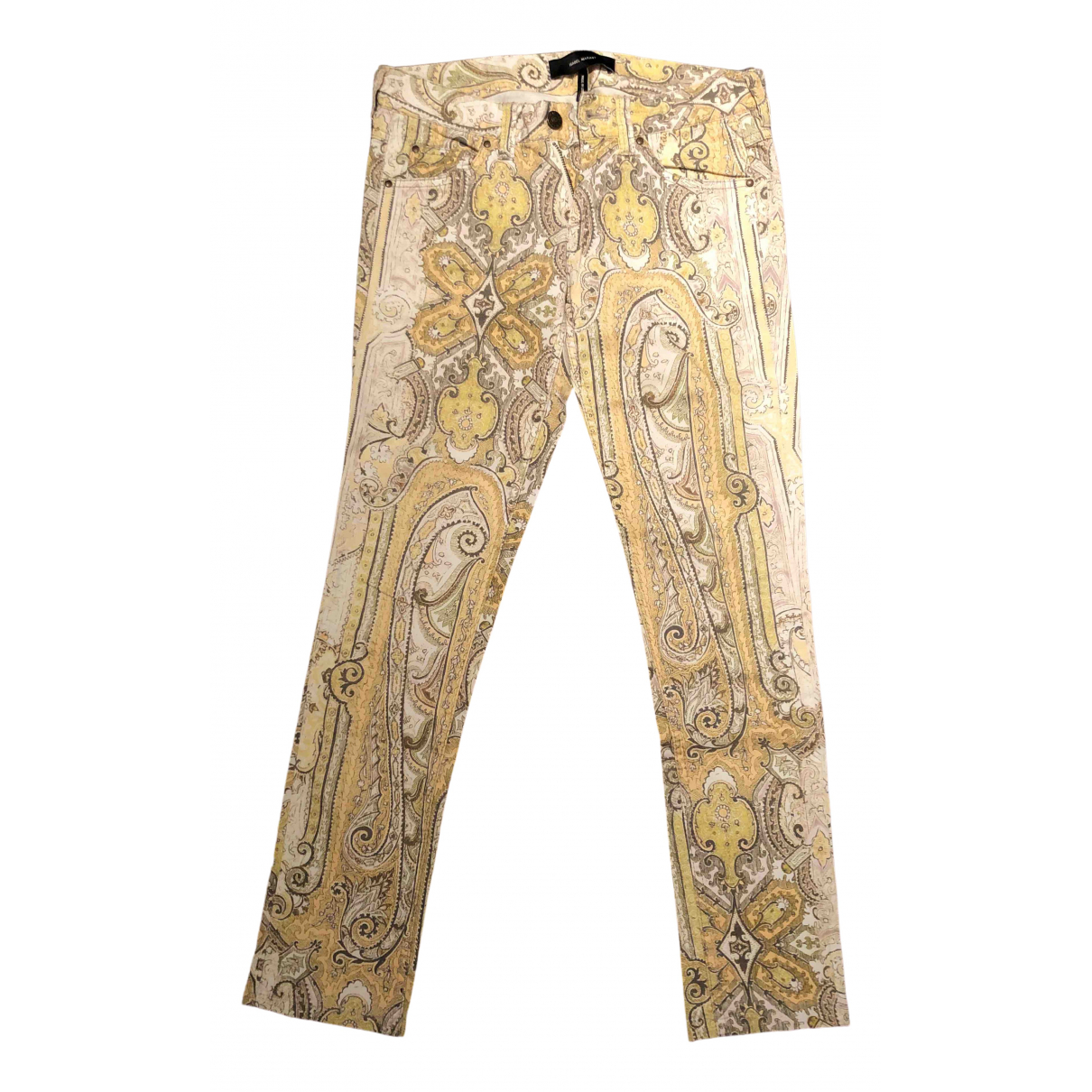 Isabel Marant \N Yellow Cotton Jeans for Women 36 FR