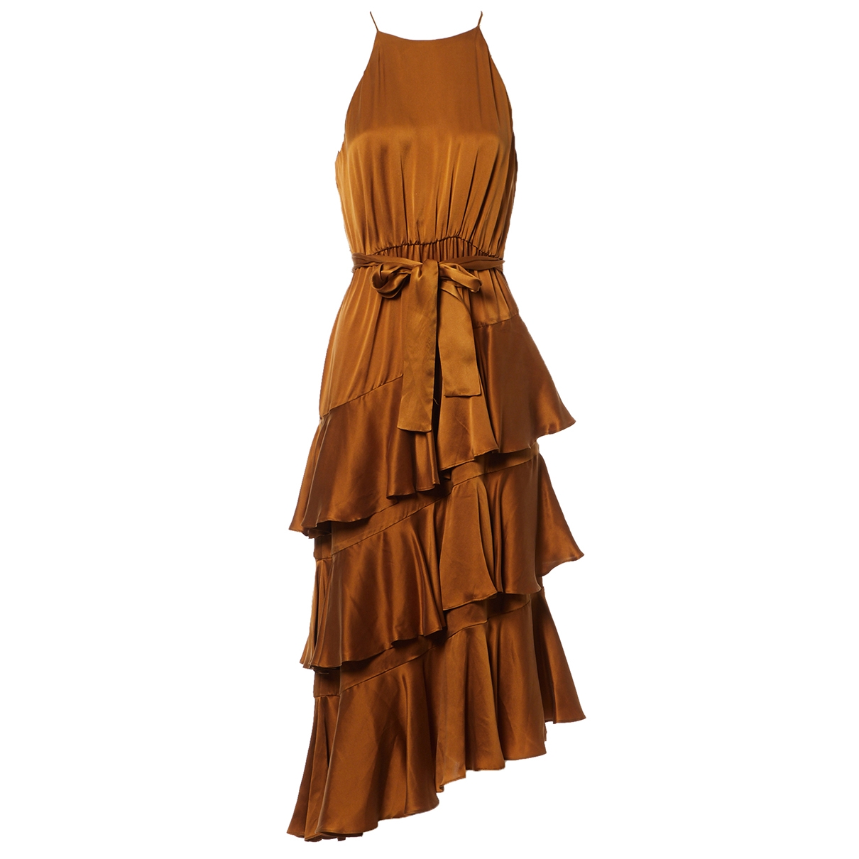 Zimmermann \N Brown Silk dress for Women 2 0-5