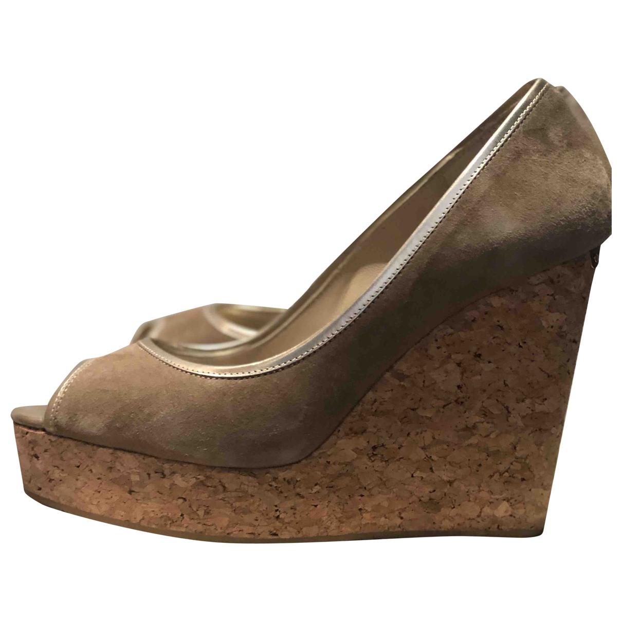 Jimmy Choo \N Beige Suede Sandals for Women 39.5 EU