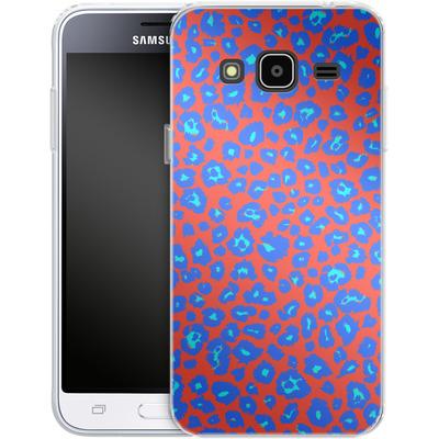 Samsung Galaxy J3 (2016) Silikon Handyhuelle - Bright Leopard Print von caseable Designs