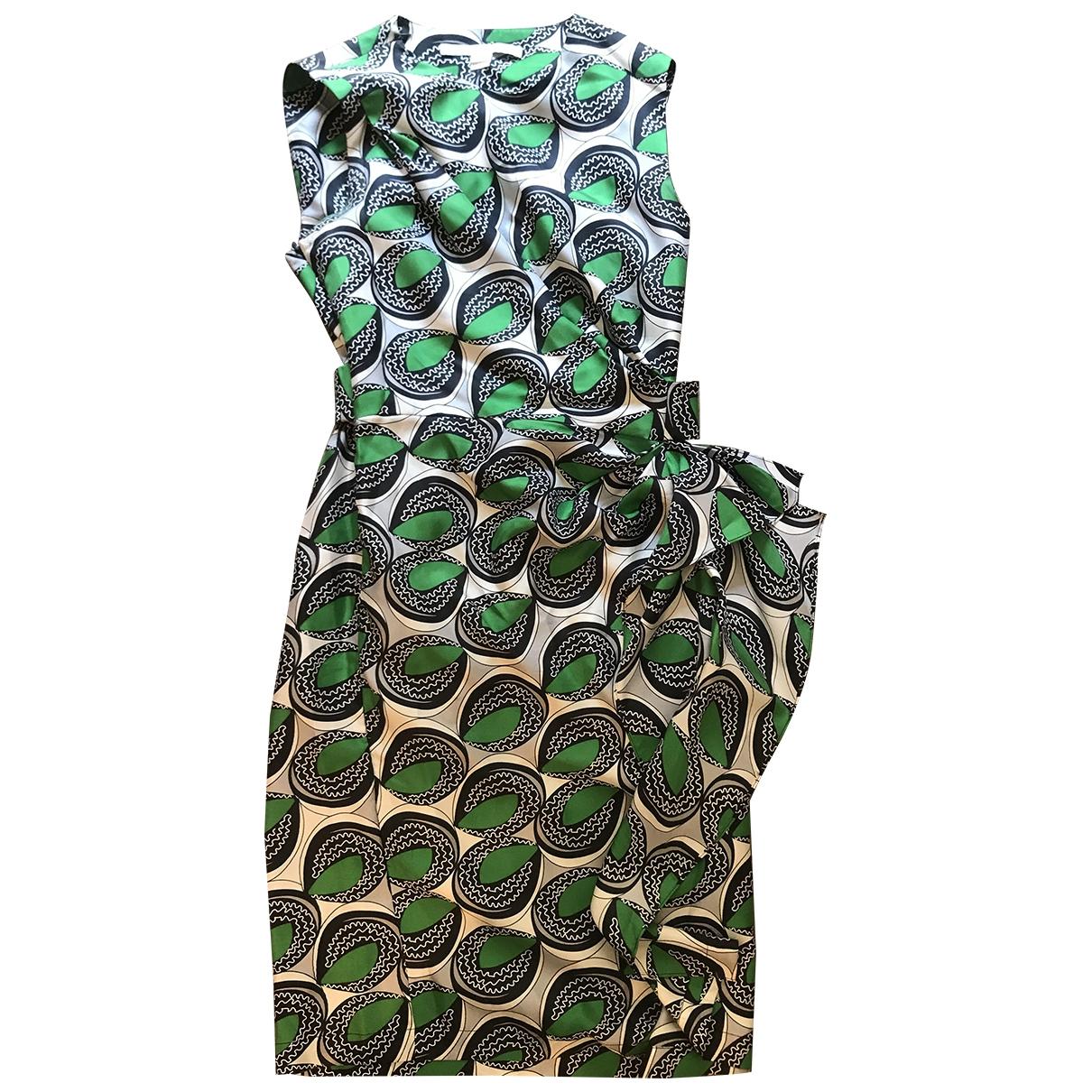 Diane Von Furstenberg \N Green Silk dress for Women 2 0-5