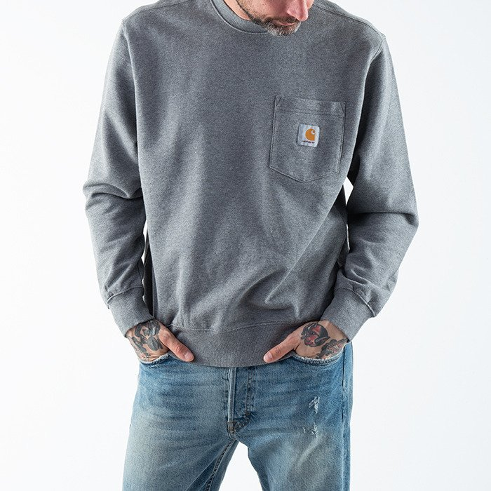 Carhartt WIP Pocket Sweatshirt I027681 DARK GREY HEATHER