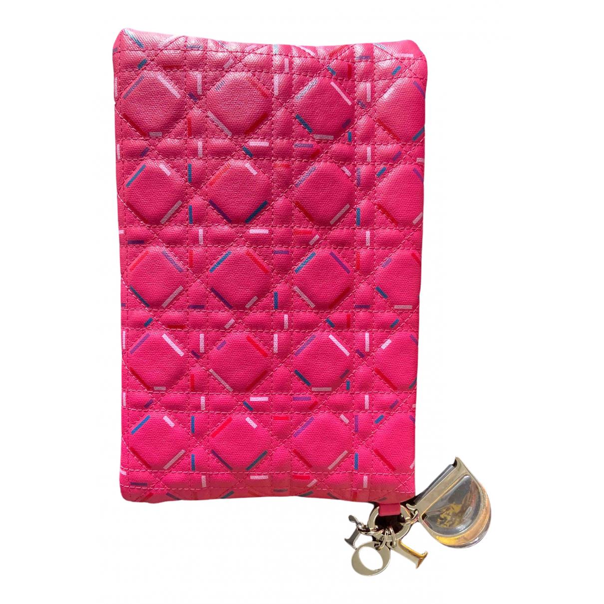 Dior - Petite maroquinerie   pour femme en toile - rose